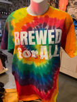 Brewed For All tie-dye t-shirt