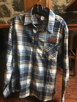 Long sleeved Flannel Shirt with Brewhouse Leather Patch