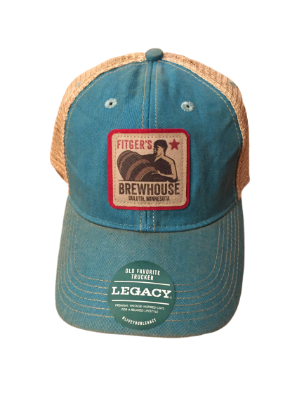 Brewhouse Faded Trucker Hat Aqua Blue