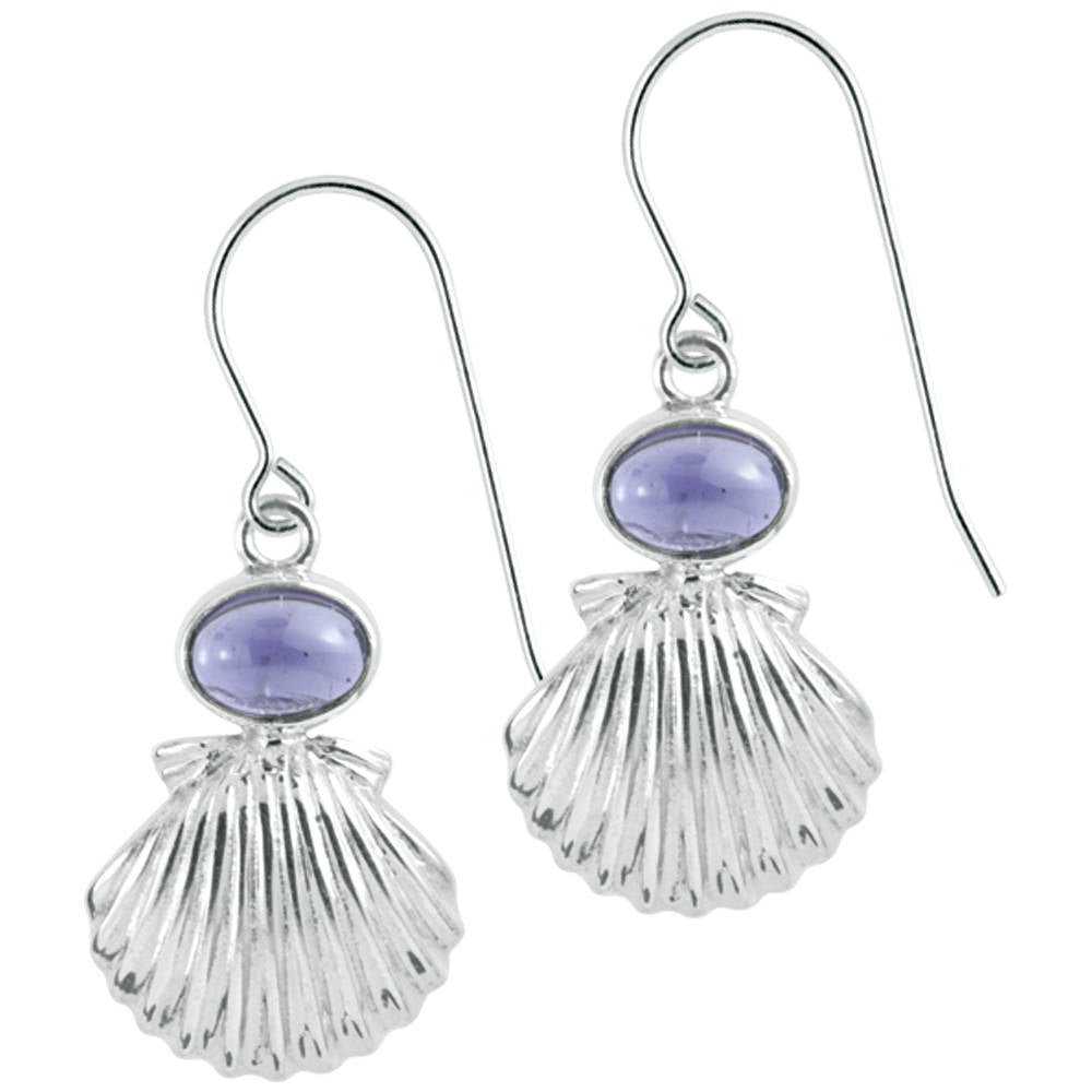 Silver Sea Shell Earring- Bring home the beach!