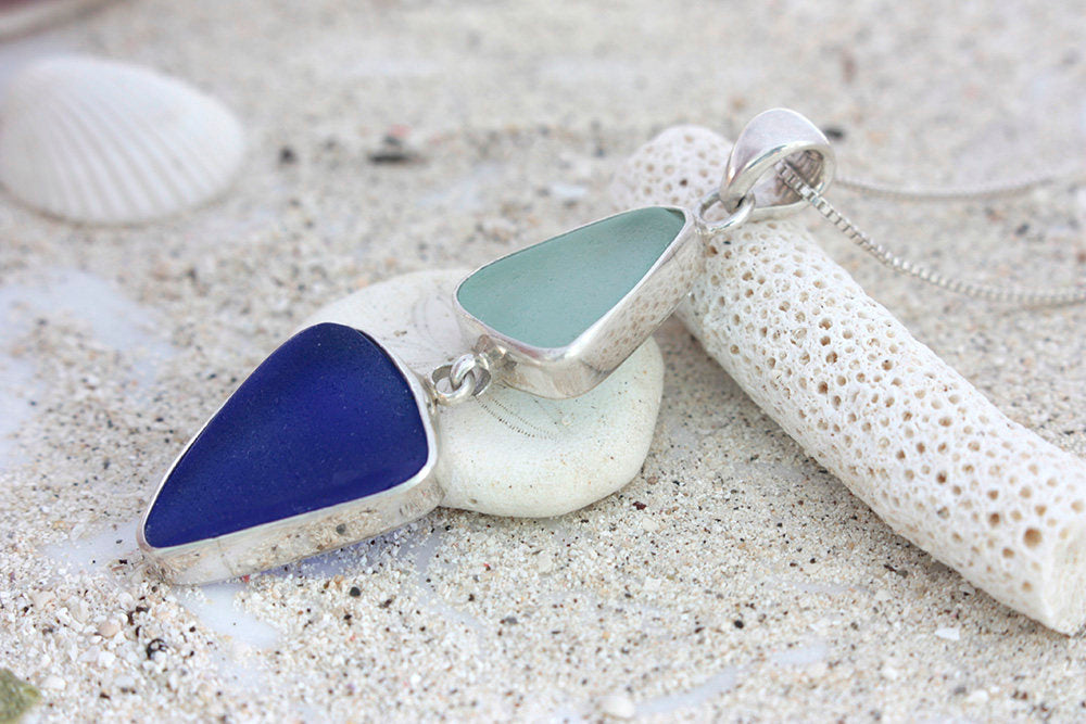 Simple Elegant Sea glass Pendant