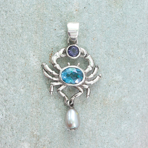 Silver Studio Story- Crab Catches a gem stone !