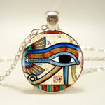 The Eye of Horus Glass Pendant Necklace