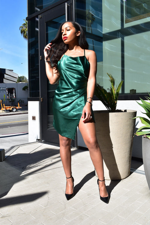 """Call The Shots"" Emerald Dress"