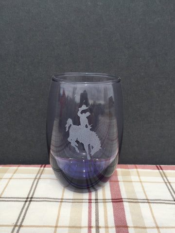 Steamboat Dark Blue Tinted Stemless Wine Glass