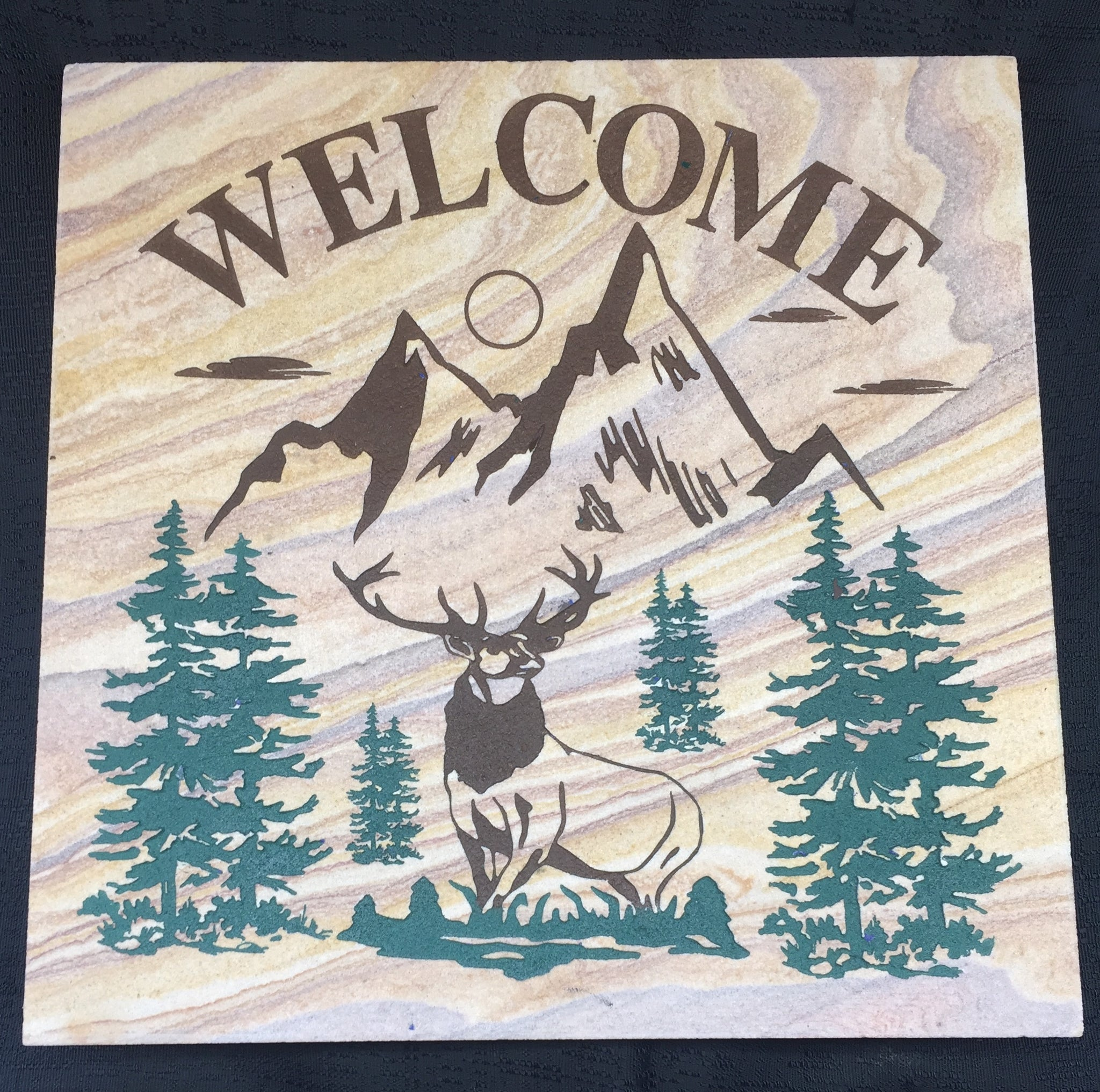"Welcome Elk Decorative Wall Tile 12""X12"""