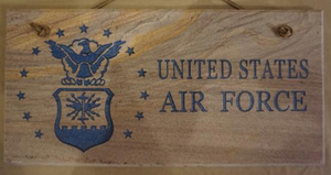 "Air Force 6""X12"" Wall Sign"