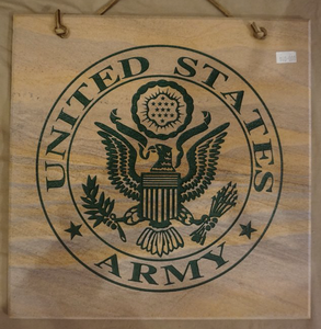 "Army Seal Decorative Wall Tile 12""X12"""