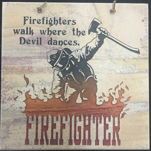 "Firefighter Decorative Wall Tile 12""X12"""