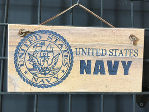 US Navy Stone Sign