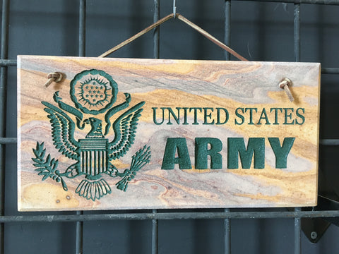 "Army Stone 6""X12"" Sign"