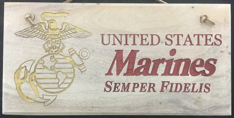"Marines 6""X12"" Wall Sign"