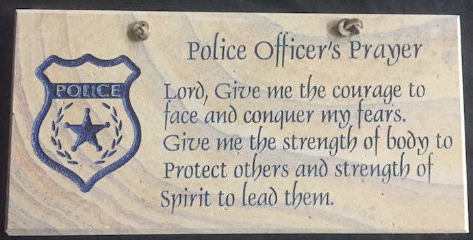 "Police Officer's Prayer - 6""X12"" Wall Sign"