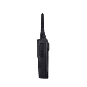 Motorola MotoTrbo CP200d Walkie Talkie Side View (Audio Port)