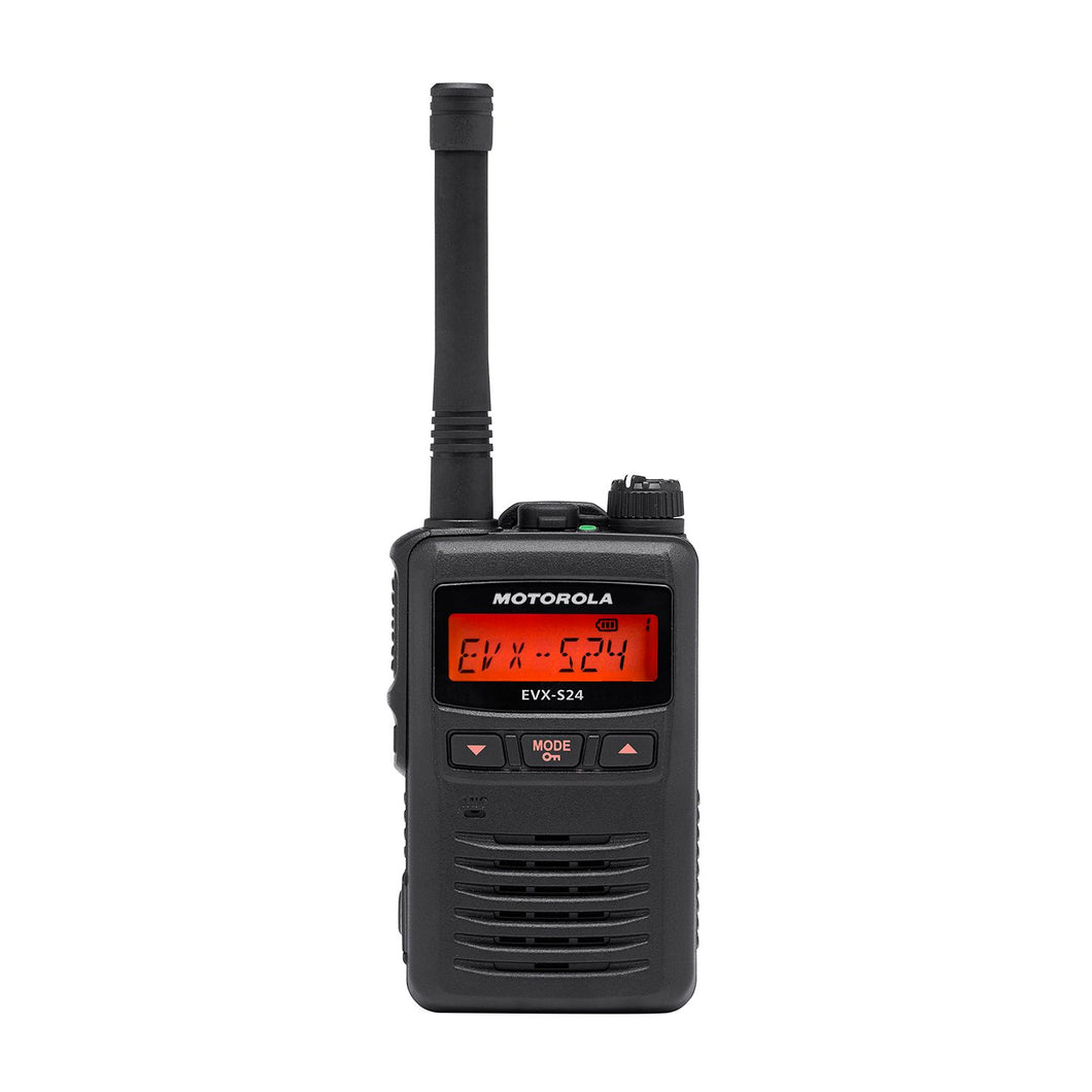 Motorola EVX-S24 UHF Portable Two-Way Radio (Digital, Black)