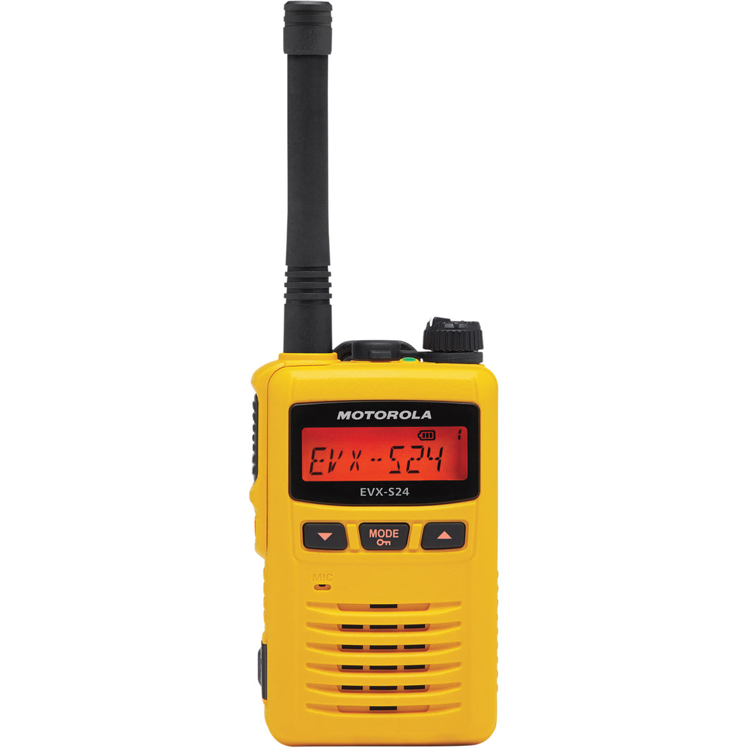 Motorola EVX-S24 UHF Portable Two-Way Radio (Digital Yellow)