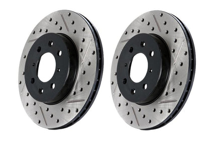 StopTech Drilled and Slotted Brake Rotors (Front Left)