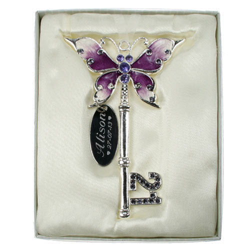 21st Birthday Butterfly Key - Lilac