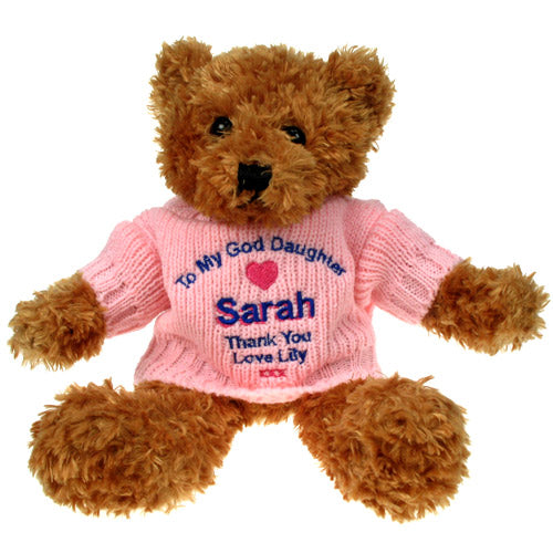 Brown Teddy Bear: God Daughter
