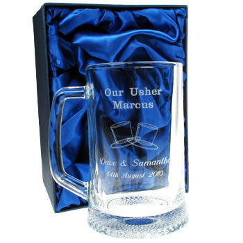 1 Pint Usher Glass Tankard