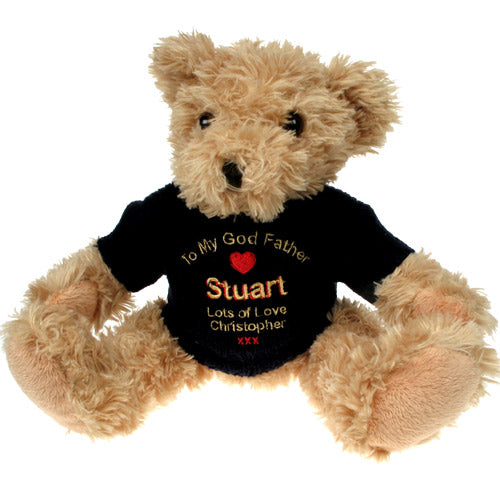 Personalised God Father Light Brown Teddy Bear