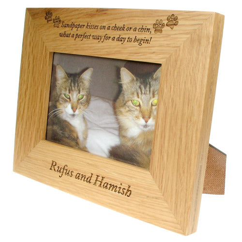 Engraved photo frames for cats