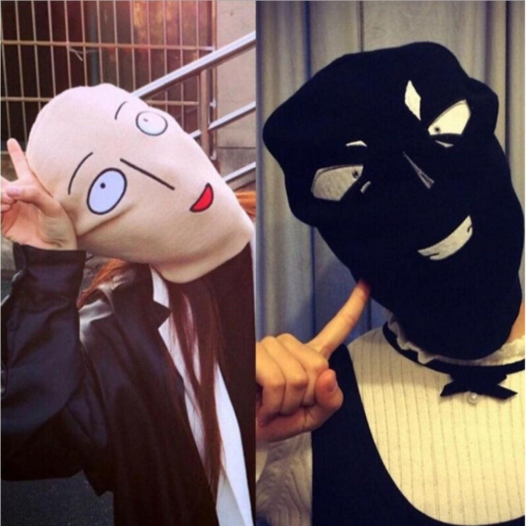 227fc9e0333 ... 2016 new Hot Anime One Punch Man Bald Saitama Embroidered Funny Knitted  Hat Women Men Winter ...