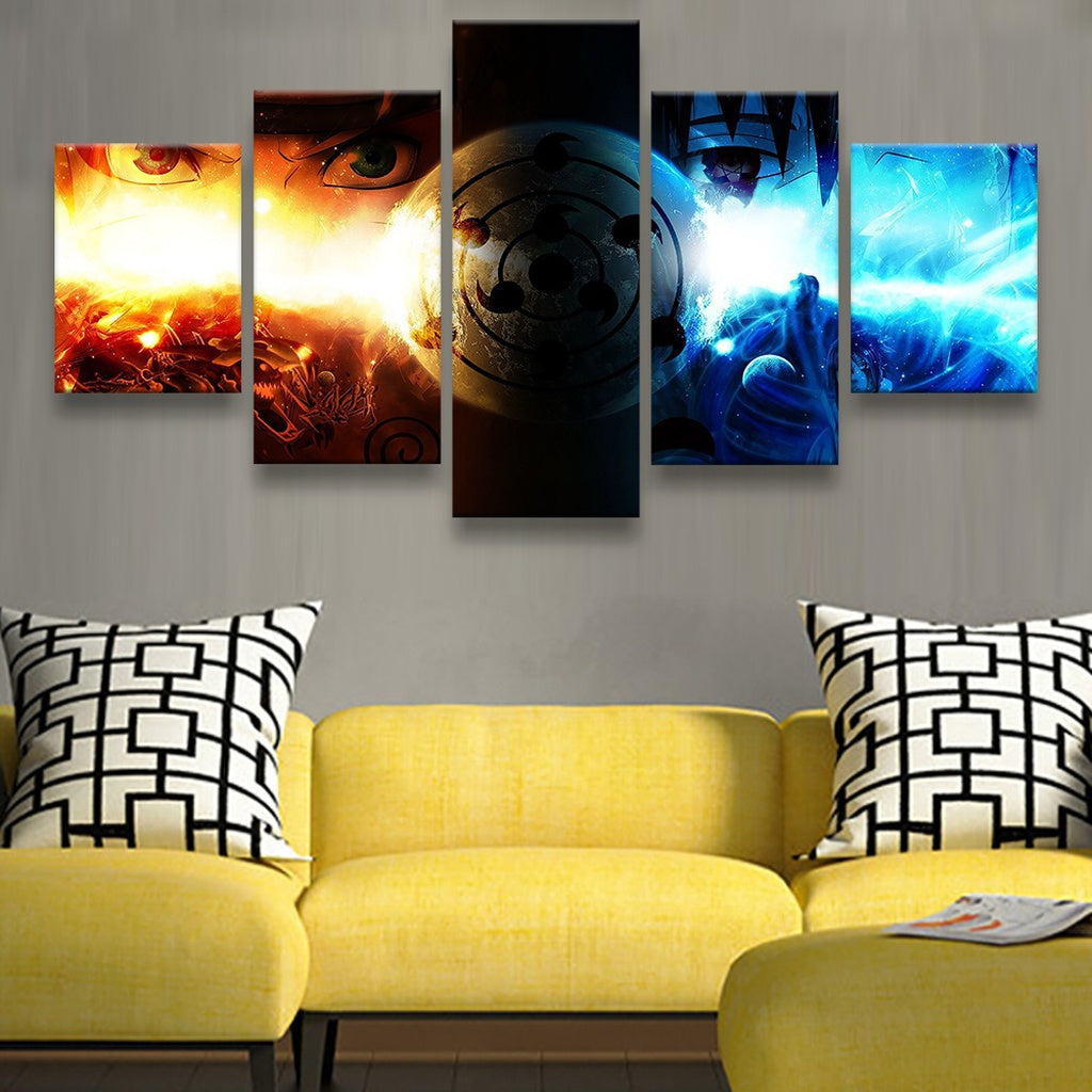 unframed 5 Panels Decorative Canvas Pictures Painting Anime Naruto ...
