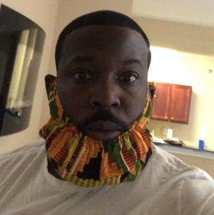 Kente Chinstrap (w/ Adjustable Ear Loop)
