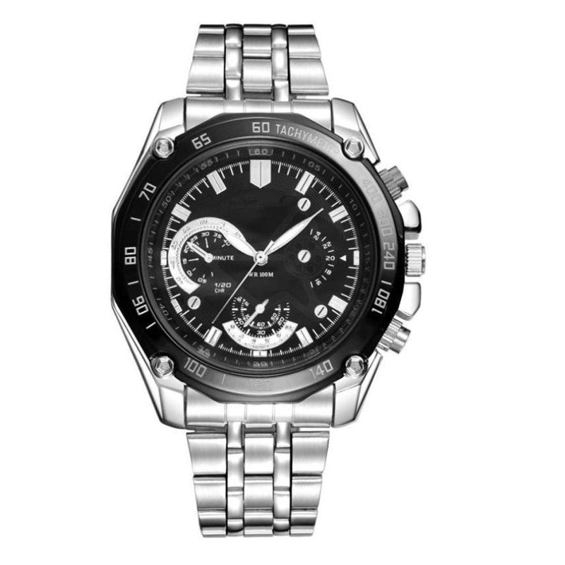 the-modern-wrist Men Luxury Stainless Steel Quartz Sport Steel Men Watch 1