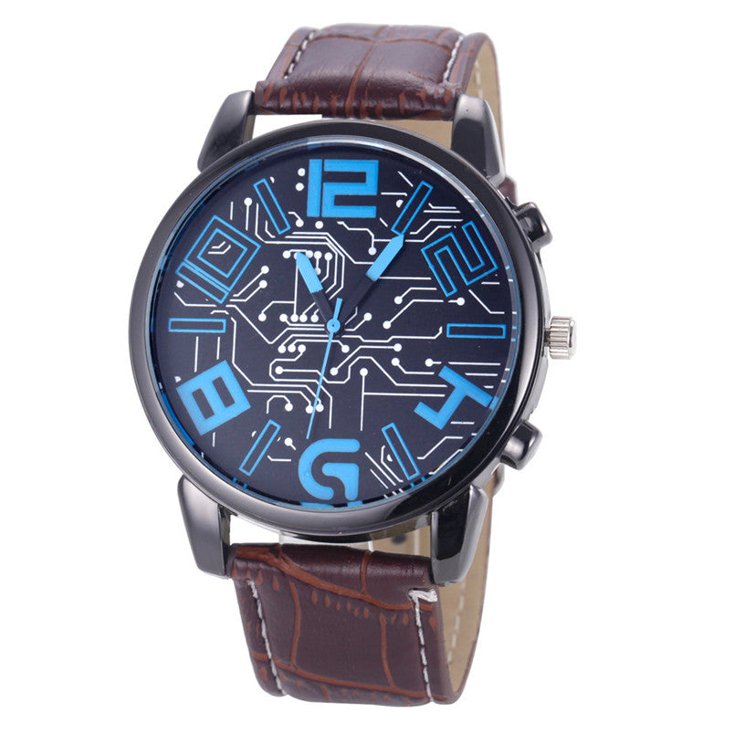 the-modern-wrist-Men's Watches Leather Strap Analog Quartz Sports-1