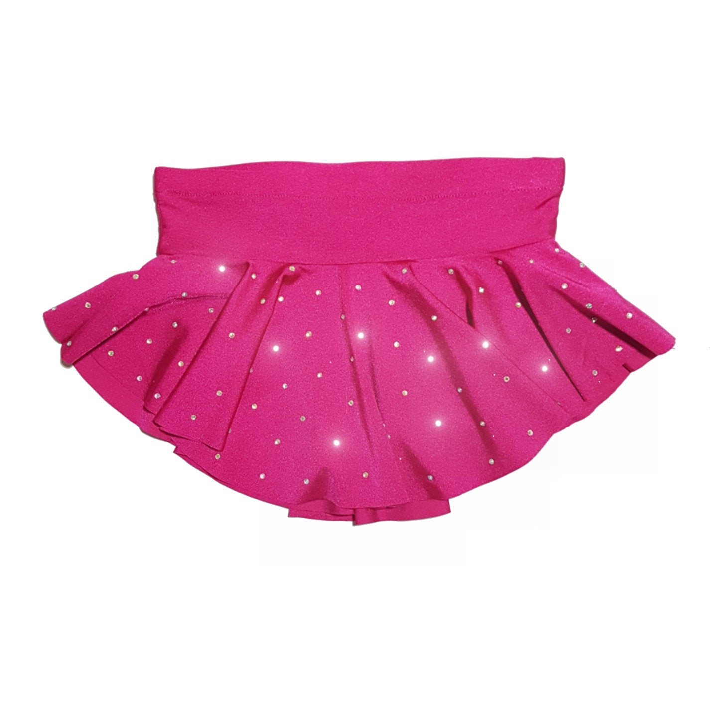 3fe3a40d870c28 Bright pink childs figure skating skirt with AB crystals - age 10-12 ice/  ...