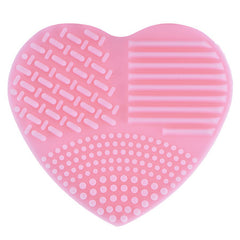 Heart Shaped Silica Glove Scrubber Board, Cosmetic Cleaning Tool for makeup brushes