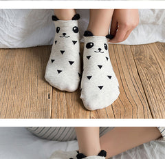 3 Pairs Cute Happy Socks For Women
