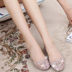 Leisure Soft Crystal Jelly Sandals