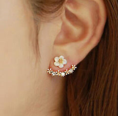 Cherry Blossoms Flower Stud Earrings