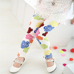 White Spring Autumn Children Leggings | Cool Kids Leggings - Online Store