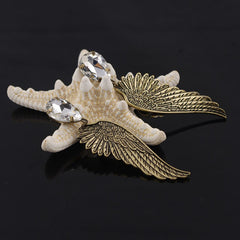 Retro Angel Wings Water Droplet Earring