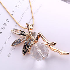 Fairy Pendant Long Chain Necklace