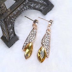 Hot Crystal Gem Drop Earrings