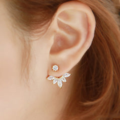 Crystal Rhinestone Flower Earrings