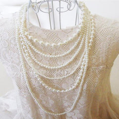 Exquisite Multi Layer Pearl Necklace
