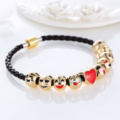 Emoji Gold Plated Bracelet