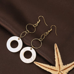 Elegant Geometric Drop Dangle Long Chain Earrings