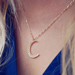 Moon Pendant Chain Necklace