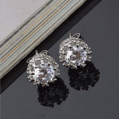 Simple Diamond Studded Earrings