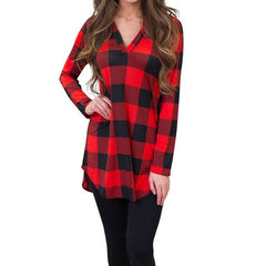 Autumn Long Sleeve Plaid Top