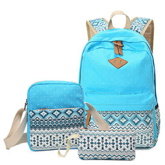 Stylish Canvas Backpack Set | Teenage Girl Backpack