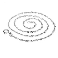 Plain Spiral Chain Necklace