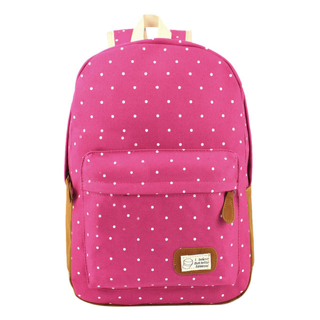 Canvas Dot Backpack - 26 Designs Available
